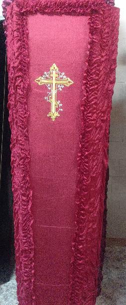 Гроб Чехол с крестом