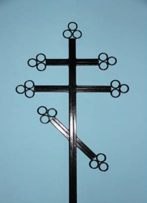 Крест металлический Двойной
