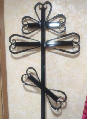 Крест металлический Кованный
